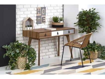 B38 psací stůl ořech / vícebarevný