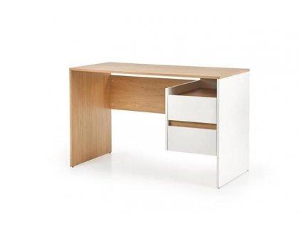 FABRI psací stůl zlatý dub / bílý (1=1ks)