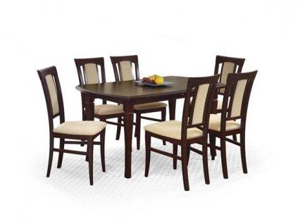 FRYDERYK 160/240 cm stůl barva tmavý ořech (160-240x90x74 cm)