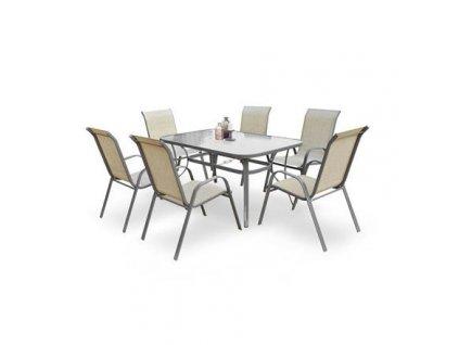MOSLER stůl zahradní šedý