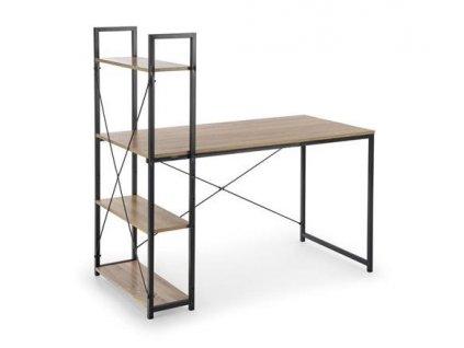 NARVIK B1 psací stůl černý / dub Sonoma