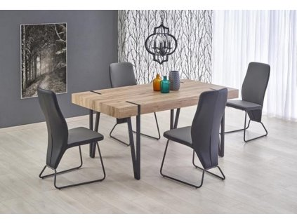 YOHANN stůl dub San Remo / černý