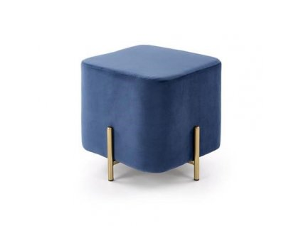 CORNO taburet tmavě modrý / zlatý