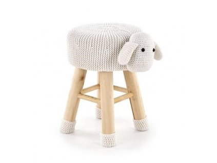 DOLLY 2 taburet ovečka bílá