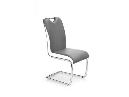 K184 židle šedá/bílá