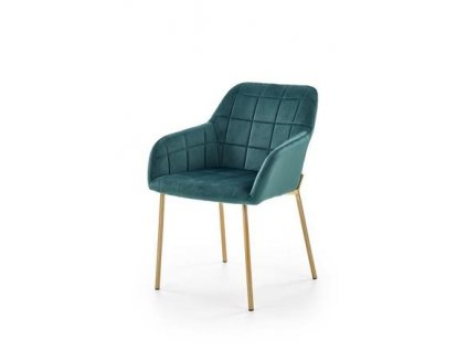 K306 židle zlatá / tmavě zelená