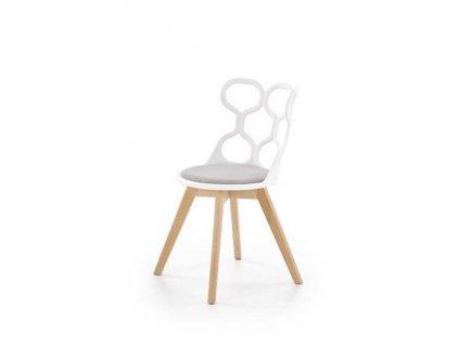 K308 židle bílá / šedá