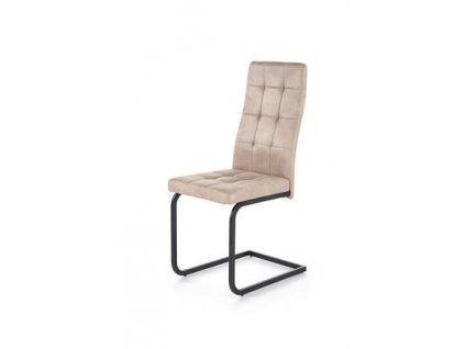 K310 židle kostra - černá, čalounění - béžové