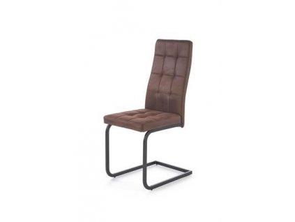 K310 židle kostra - černá, čalounění - tmavě hnědé