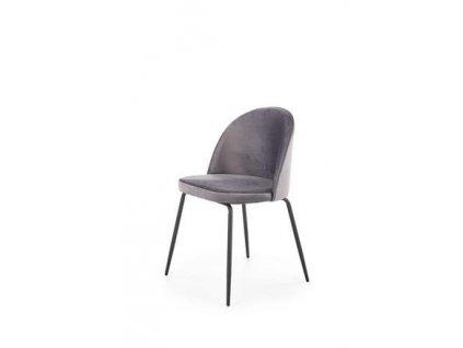 K314 židle nohy - černé, čalounění - tmavě šedé