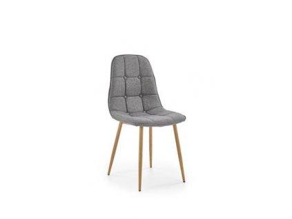 K316 židle čalounění - šedé, nohy - dub velbloudí