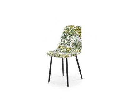 K317 židle čalounění - vícebarevné, nohy - černé