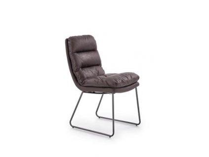 K320 židle kostra - antracitová, čalounění - tmavě šedé