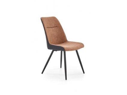 K323 židle hnědá / černá