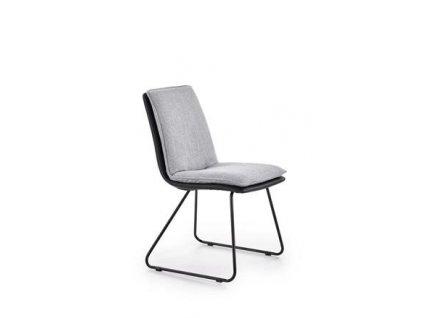 K326 židle kostra - černá, čalounění - světle šedé / černé