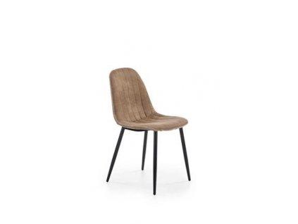 K328 židle nohy - černé, čalounění - tmavě béžové
