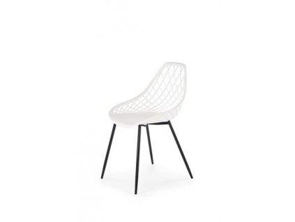 K330 židle nohy - černé, sedadlo - bílé