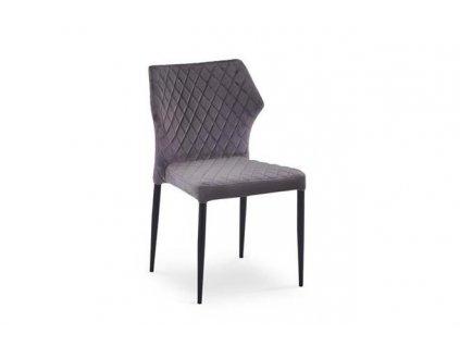 K331 židle nohy - černé, sedadlo - tmavě šedé