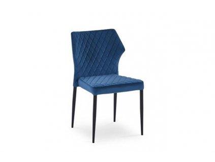 K331 židle nohy - černé, sedadlo - tmavě modré
