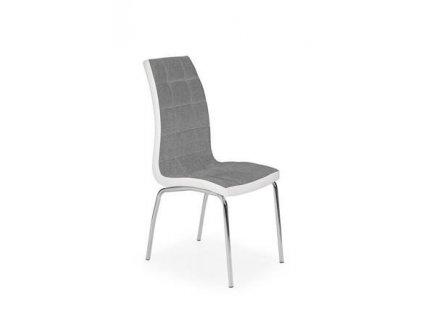 K347 židle šedá / bílá