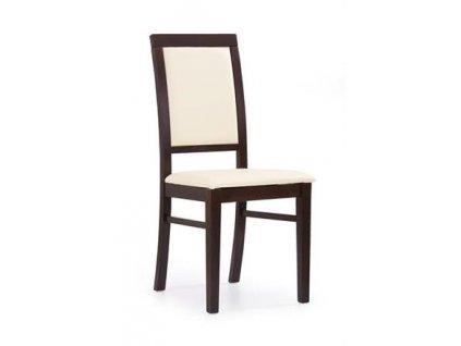 SYLWEK1 židle tmavý ořech, koženka /CAYENNE1112