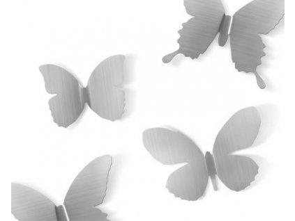Sada dekorační Mariposa niklovaná