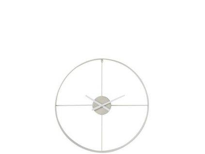 Hodiny Round kovové bílé XL