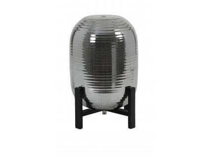 Lampa stolní Nibali kouřová/černé dřevo