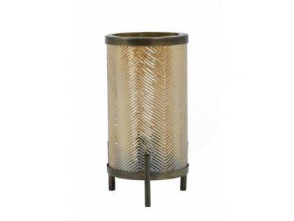 Lampa stolní Tjibe zlatá/antická hnědá