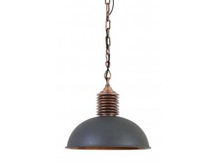 Lampa závěsná Amely šedá/měděná