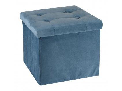 Taburet Intesi Vels modrý