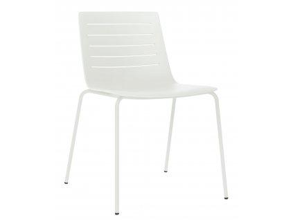 Židle Skinny 4 bílá podstava bílá
