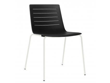 Židle Skinny 4 černá podstava bílá