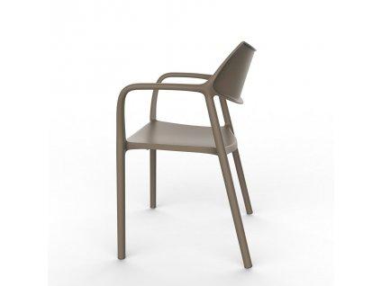 Židle Splash Aire čokoládová