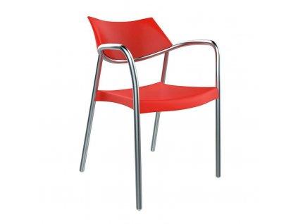 Židle Splash červená