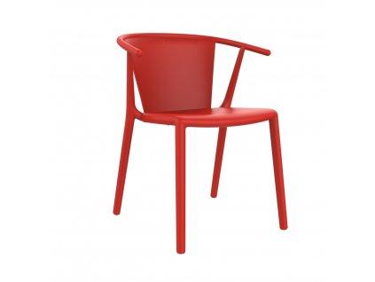 Židle Steely červená