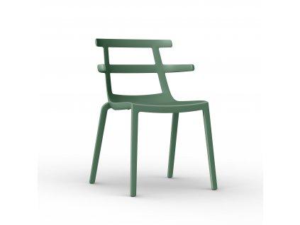 Židle Tokio zelená-šedá