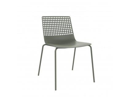 Židle Wire 4 špinavě zelená