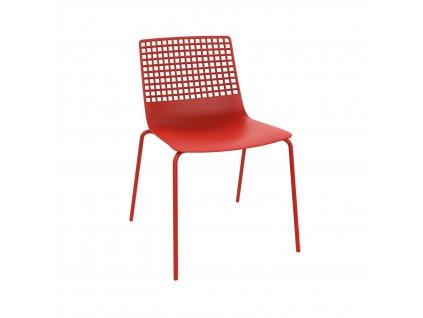 Židle Wire 4 červená
