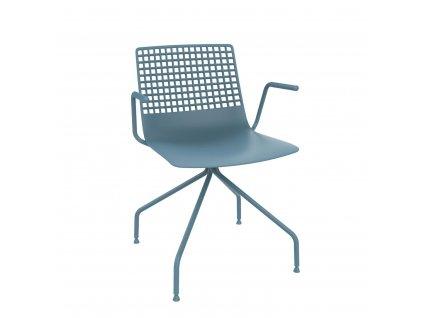 Židle Wire Arana modrá s područkami