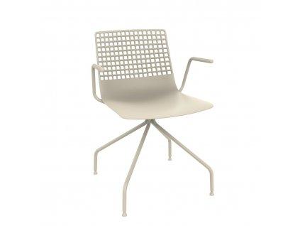 Židle Wire Arana světle béžová s područkami