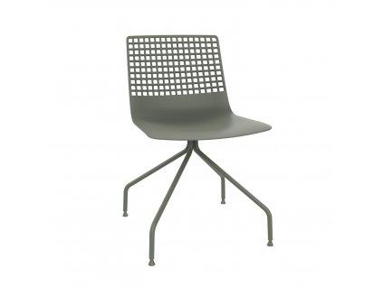 Židle Wire Arana špinavě zelená