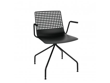 Židle Wire Arana černá s područkami