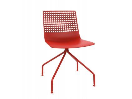 Židle Wire Arana červená