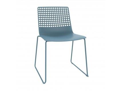 Židle Wire Patin modrá