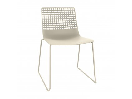 Židle Wire Patin světle béžová