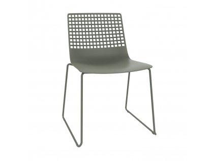Židle Wire Patin šedá