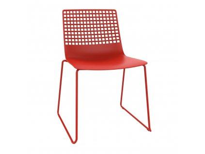 Židle Wire Patin červená