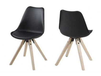 Židle Dima black/wood