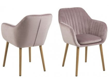 Židle Emilia Velvet dusty rose